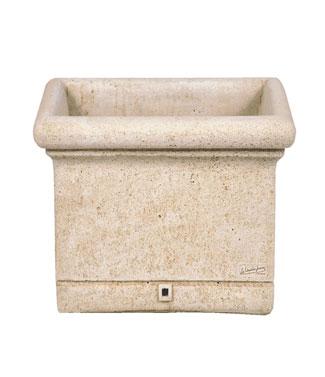 Jardinière carré en pierre lisse L 44 x l 44 x h 35 25 litres (l) 37 kg