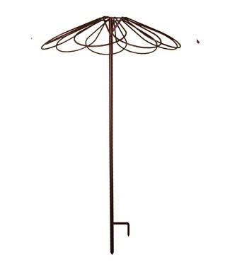 Tuteur parapluie avec 9 pétales Fer vieilli h 250 x Ø 100