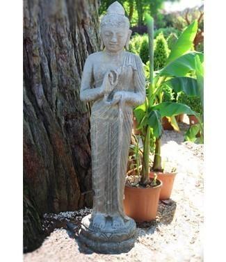 Dewi Sri debout avec pot h 120