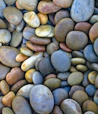Galets naturels plats 30-60 mm 25 kg