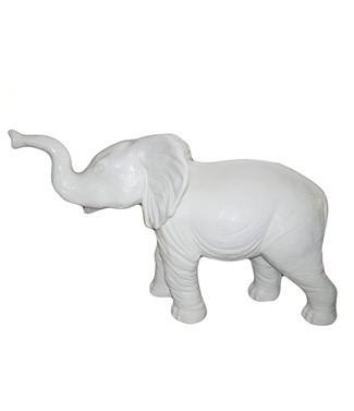 Elephant géant blanc Blanc L 180 x h 120