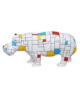 Hippopotame mondrian quadrillé L 180 x h 85
