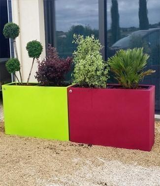 Jardinière Lineo avec 2 bacs amovibles L 116 x l 36 x h 70 160 litres (l) 30 kg