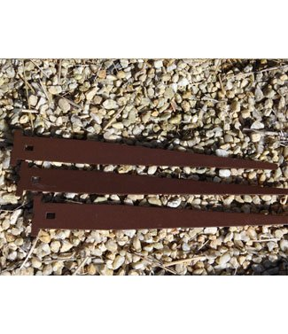 Pieux de fixation plat peinture epoxy en acier galvanisé