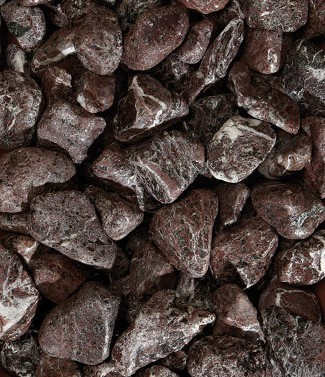 Galets roulés Rosso levanto 40-60 mm 25 kg
