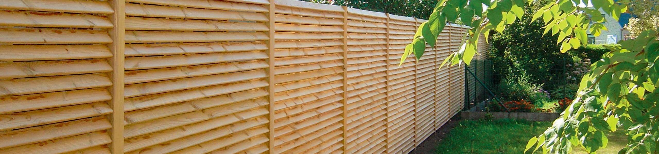 Panneaux en bois de jardin