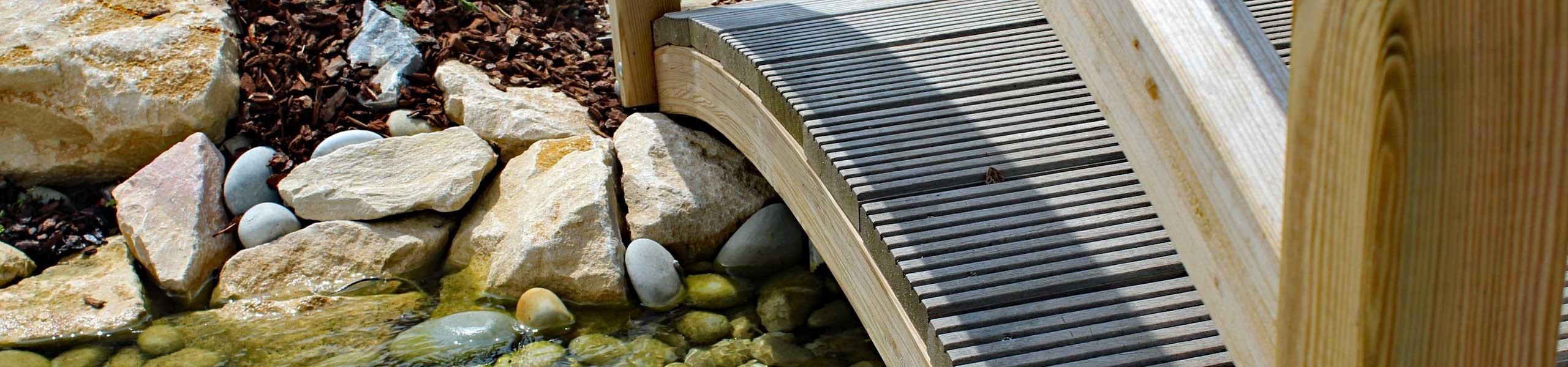 Passerelle rivière artificielle Sonofep