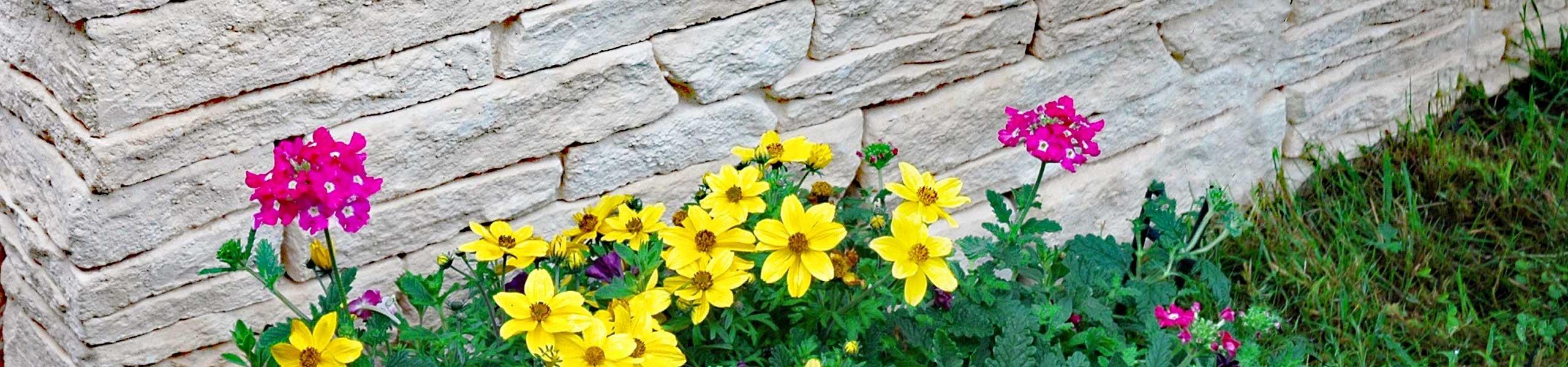 Muret en pierre de jardin