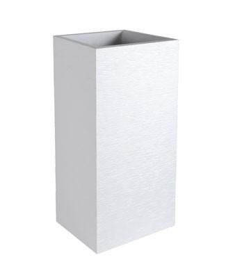 Pot carré haut graphit Blanc cérusé L 39.5 x l 39.5 x h 80 31 litres (l)