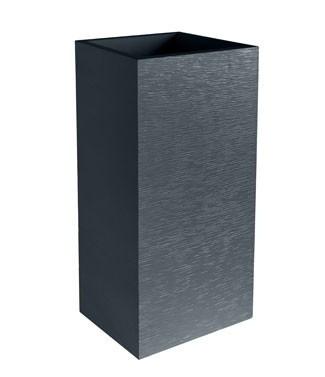 Pot carré haut graphit Gris anthracite L 39.5 x l 39.5 x h 80 31 litres (l)
