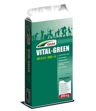 Engrais DCM Vital-Green 14/4/8 + 3 MgO + 0,05 Fe 25 kg