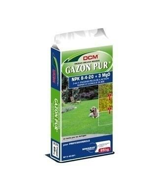 Engrais DCM Gazon Pur® 8/4/20 + 3 MgO 25 kg