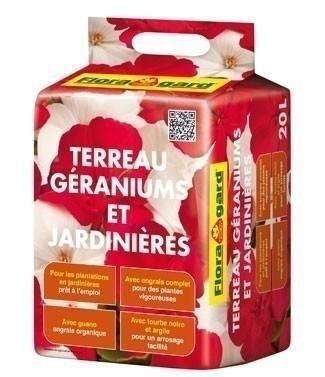 Terreau pour géraniums et jardinières 20 litres (l)