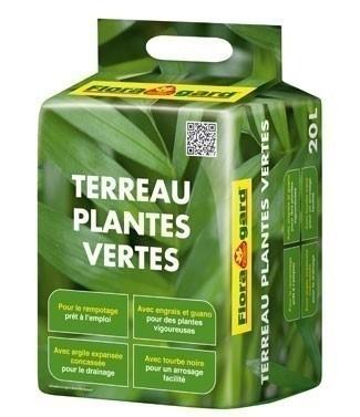 Terreau pour plantes vertes 20 litres (l)