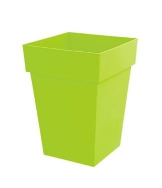 Pot mi-haut carré Toscane Vert pistache L 39 x l 39 x h 53 51 litres (l)