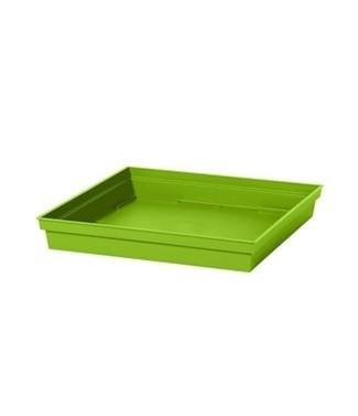 Soucoupe pour pot carré Toscane 32 cm Vert pistache L 26.7 x l 26.7