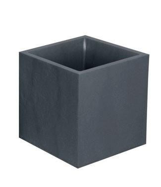 Pot carré Volcania  Gris anthracite L 39.5 x l 39.5 x h 43.5 35 litres (l) 3.57 kg