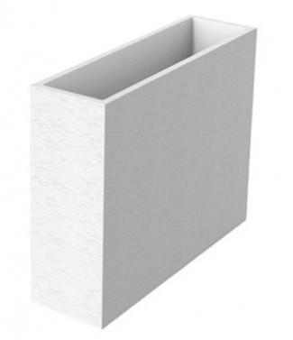 Muret loft XL graphit  Blanc cérusé L 99.5 x l 29.5 x h 78.5 63 litres (l)