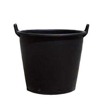 Container en polyéthylène noir à poignées h 34 x Ø 45