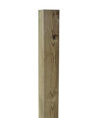 Poteau carré en pin traité L 7 x l 7 x h 240