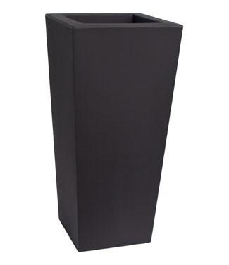 Pot haut carré Kiam Noir perle L 35 x l 35 x h 75 13 litres (l) 5.2 kg