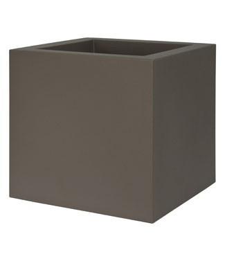 Pot carré Kube Tourterelle L 30 x l 30 x h 30 9 litres (l) 2.1 kg