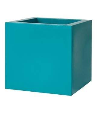 Pot carré gloss Kube Vert émeraude L 30 x l 30 x h 30 9 litres (l) 2.1 kg