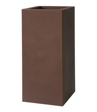 Pot carré haut Kube Rouille L 30 x l 30 x h 70 9 litres (l) 6.1 kg