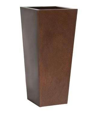 Pot haut carré gloss Kiam Rouille L 25 x l 25 x h 56 4.5 litres (l) 2.7 kg