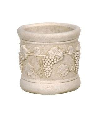 Vase tonneau en pierre motif raisin h 38 x Ø 39 21 litres (l) 33 kg