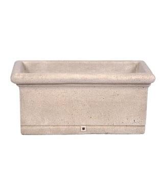 Jardinière en pierre lisse L 70 x l 35 x h 32 32 litres (l) 45 kg