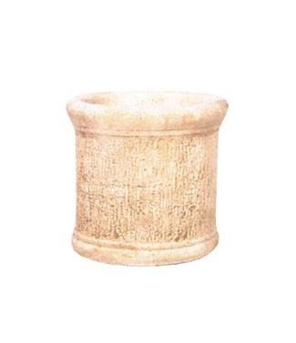 Vase rond en pierre à l'ancienne  h 39 x Ø 39 19 litres (l) 33 kg