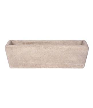 Balconnière en pierre lisse L 65 x l 22 x h 18 89 litres (l) 20 kg