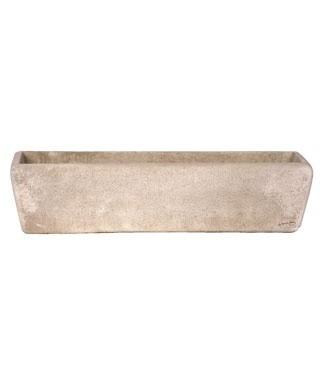 Balconnière longue en pierre lisse L 80 x l 24 x h 20 15 litres (l) 22 kg