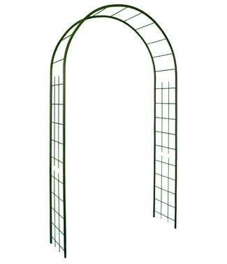 Arche en métal avec décor treillage Vert sapin L 130 x l 40 x h 250