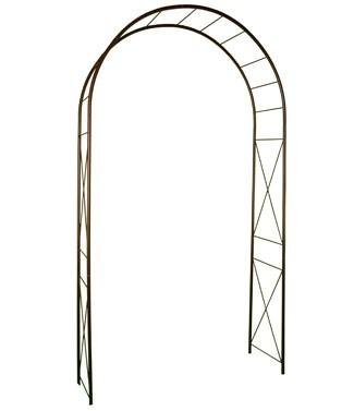 Arche en métal avec décor losange Fer vieilli L 130 x l 40 x h 250