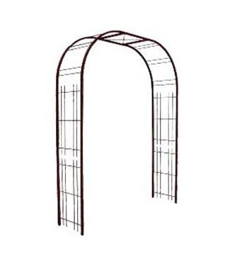 Arche treillage fer vieilli tube carré Fer vieilli L 195 x l 50 x h 250