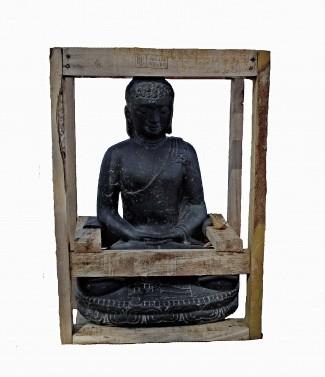 """Bouddha assis """"E"""" L 28 x l 22 x h 45"""