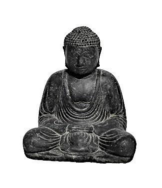Bouddha du Japon assis L 36 x l 25 x h 41