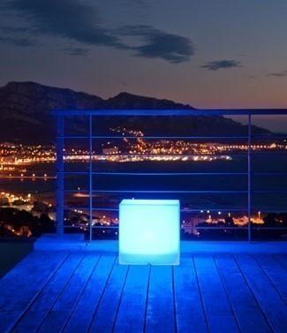Cube lumineux couleur changeante sans fil Carry L 40 x l 40 x h 40