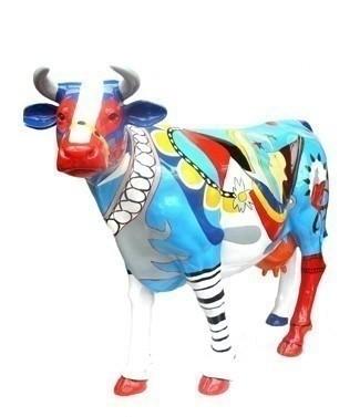 Vache géante fantaisie L 216 x h 155