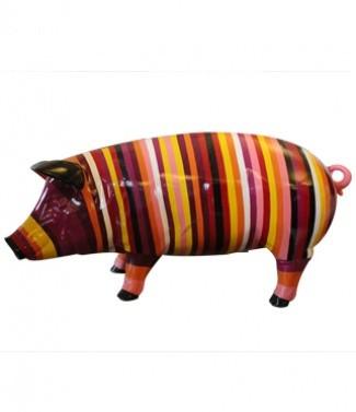 Cochon rayé L 93 x h 48