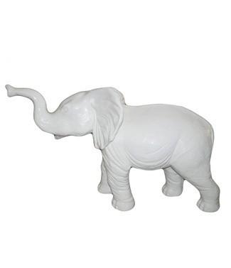 Eléphant géant blanc Blanc L 180 x h 120