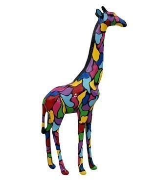 Girafe tachetée multicolore h 120