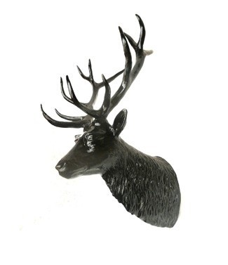 Tête de cerf Noir L 80 x h 125
