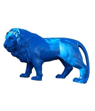 Lion géant bleu foncé L 190 x h 120