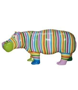 Hippopotame rayé L 180 x h 85