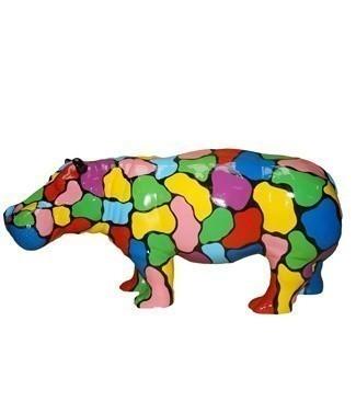 Hippopotame multicolore L 180 x h 85
