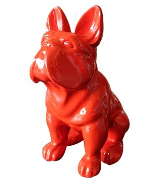Bulldog assis rouge