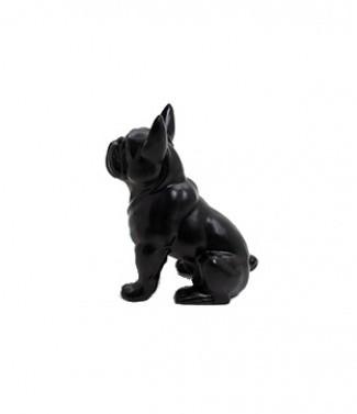 Bulldog assis noir mat Noir mat h 40